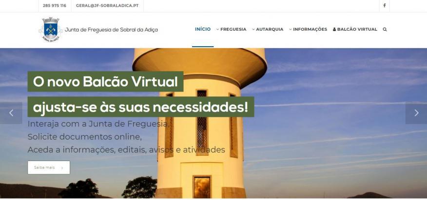 Renovação do WebSite da Freguesia